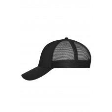 Бейсболка MB6239 6 Panel Mesh Cap - Черный/Черный