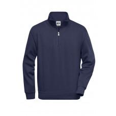 Толстовка мужская JN831 Workwear Half Zip Sweat - Темно-синий