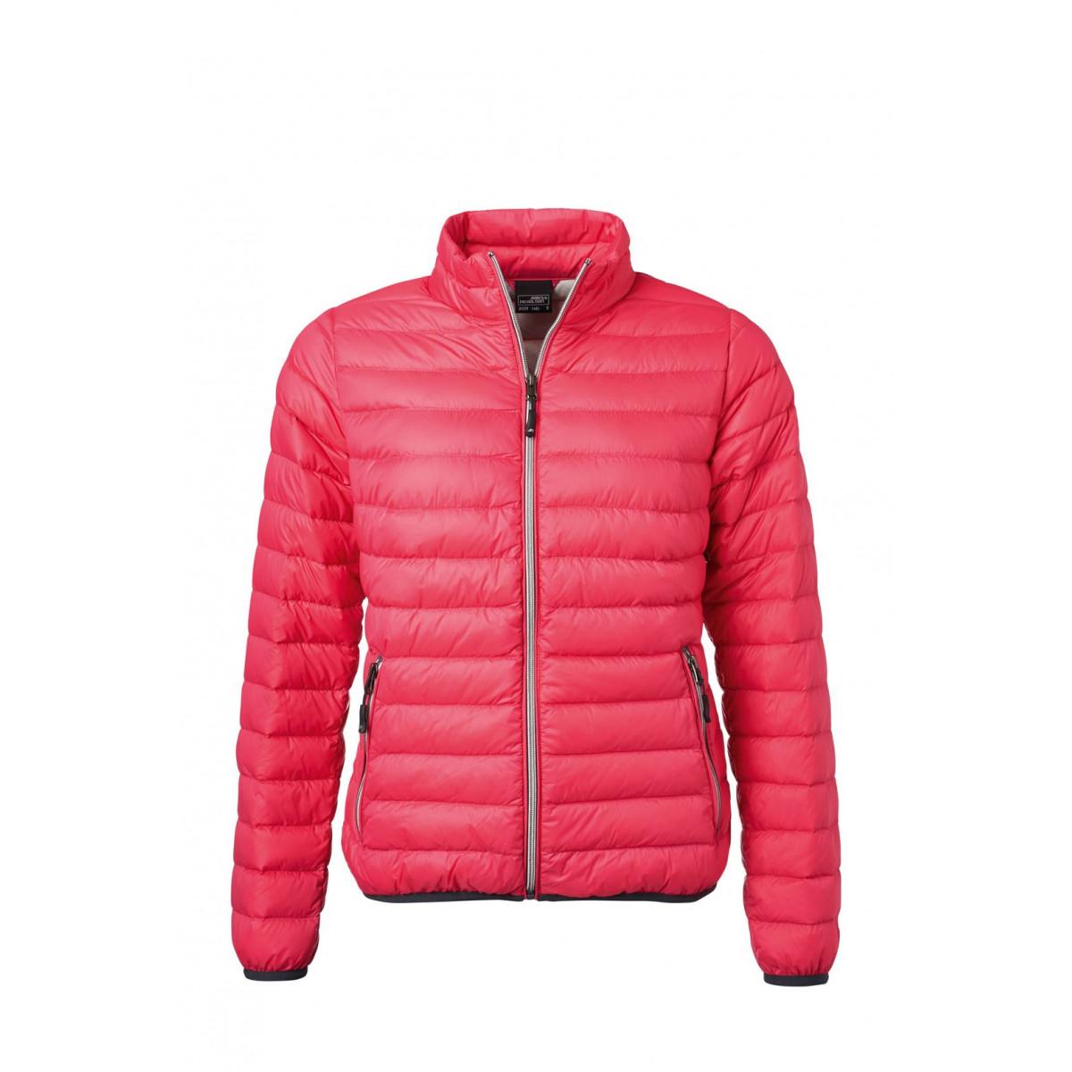 Куртка женская JN1139 Ladies Down Jacket - Фуксия/Серебряный