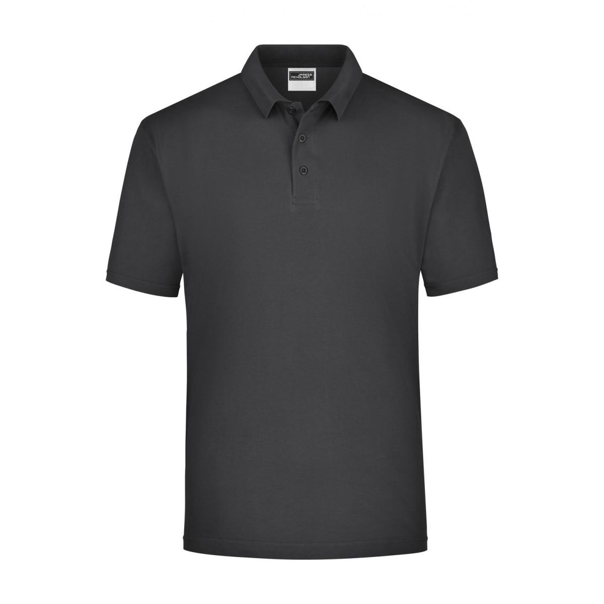 Рубашка поло мужская JN021 Polo Piqué Heavy - Черный