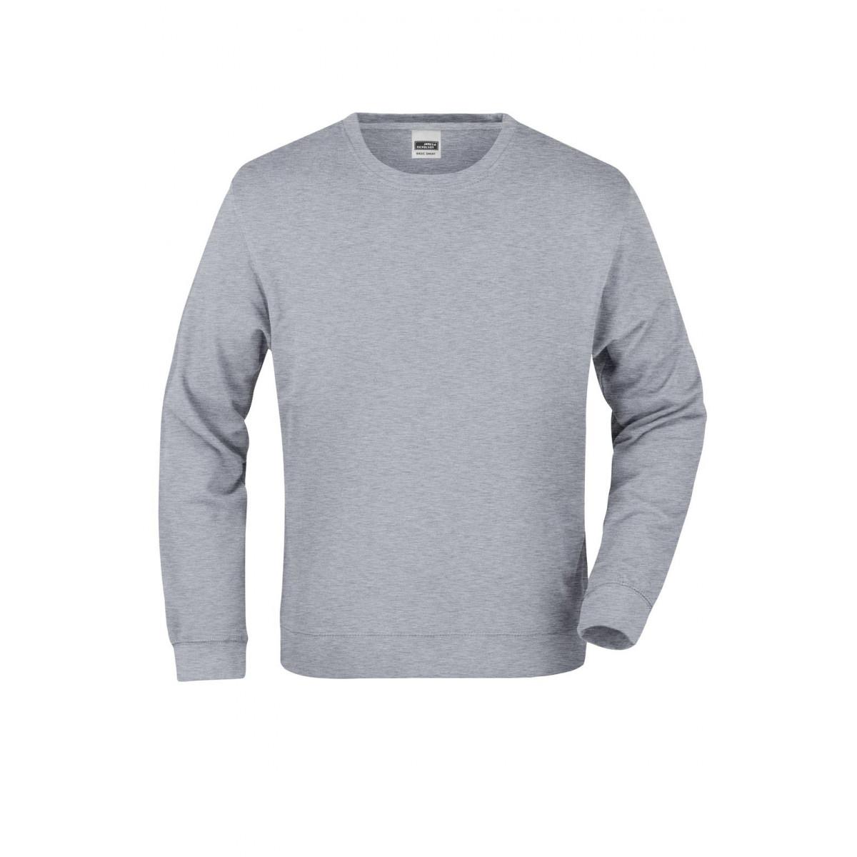 Толстовка мужская JN057 Basic Sweat - Серый меланж