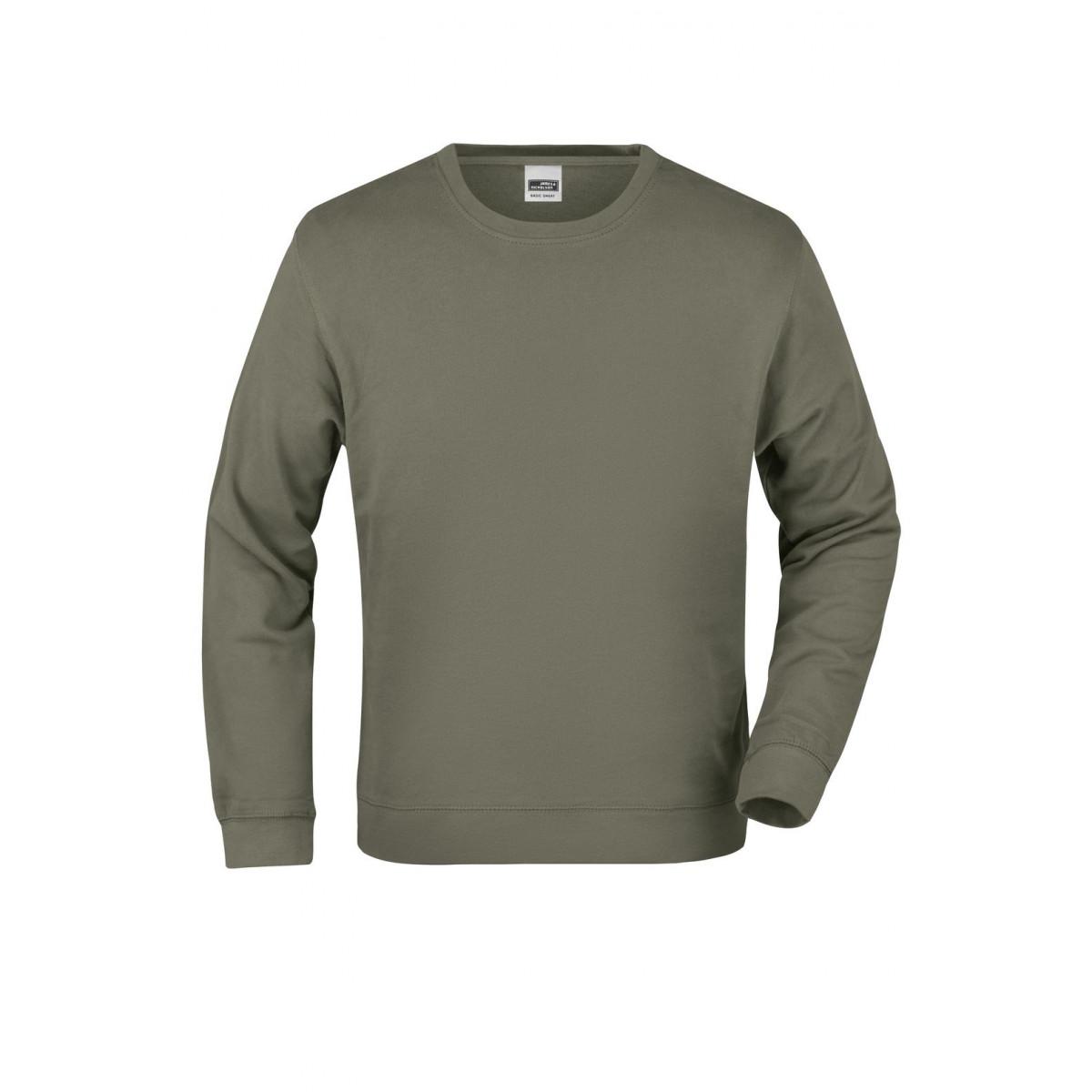 Толстовка мужская JN057 Basic Sweat - Оливковый