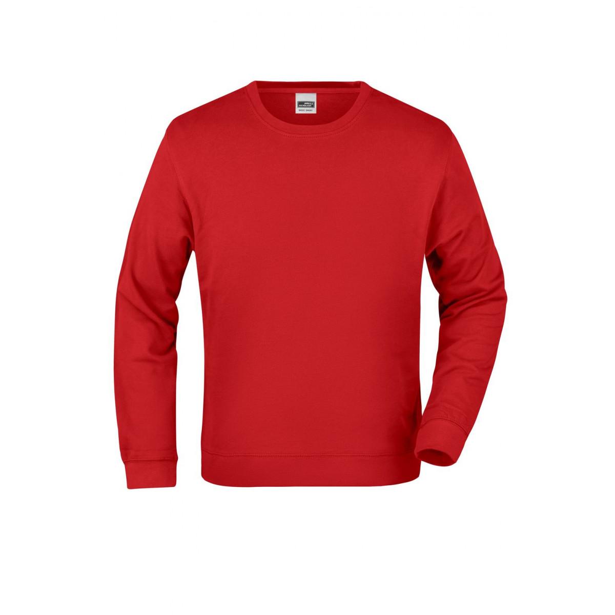 Толстовка мужская JN057 Basic Sweat - Красный