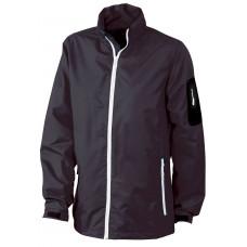 Куртка женская JN1040 Ladies' Windbreaker - Черный/Серебряный