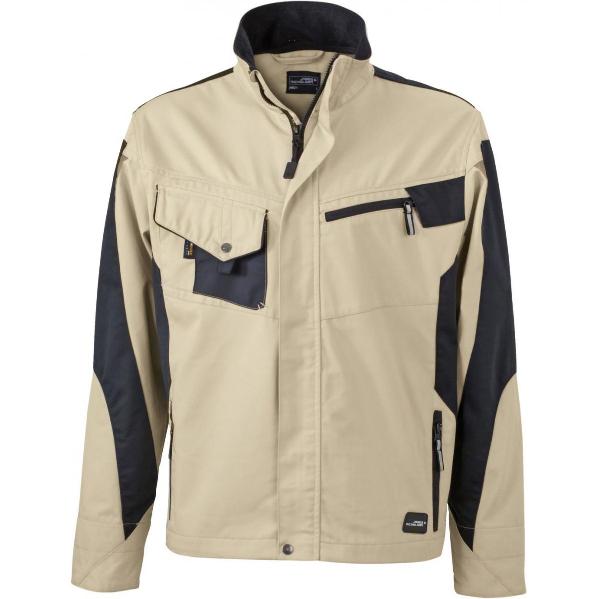 Куртка мужская JN821 Workwear Jacket - Бежевый/Черный