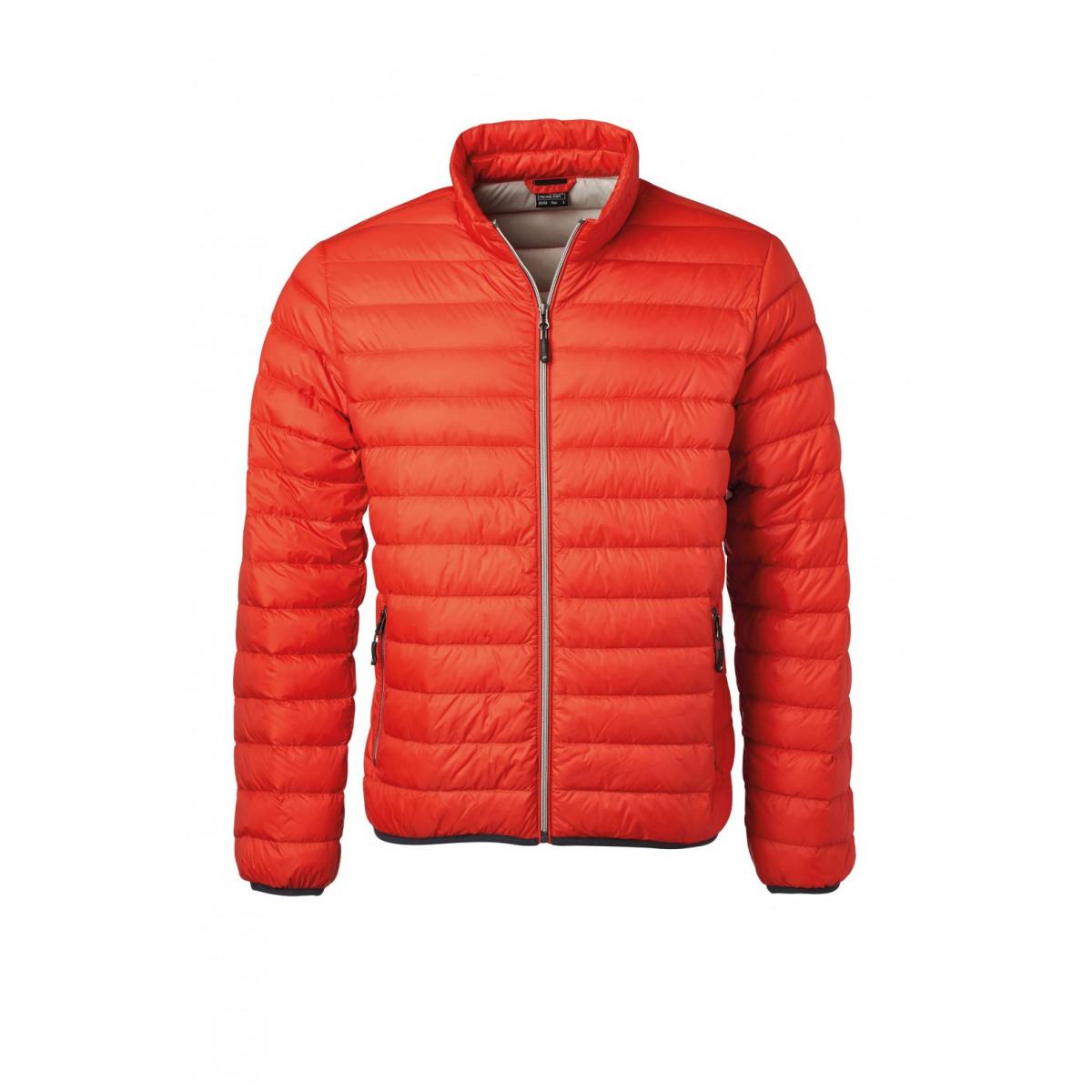 Куртка мужская JN1140 Mens Down Jacket - Оранжевый/Серебряный