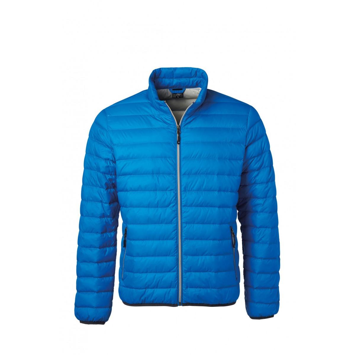 Куртка мужская JN1140 Mens Down Jacket - Кобальт/Серебряный