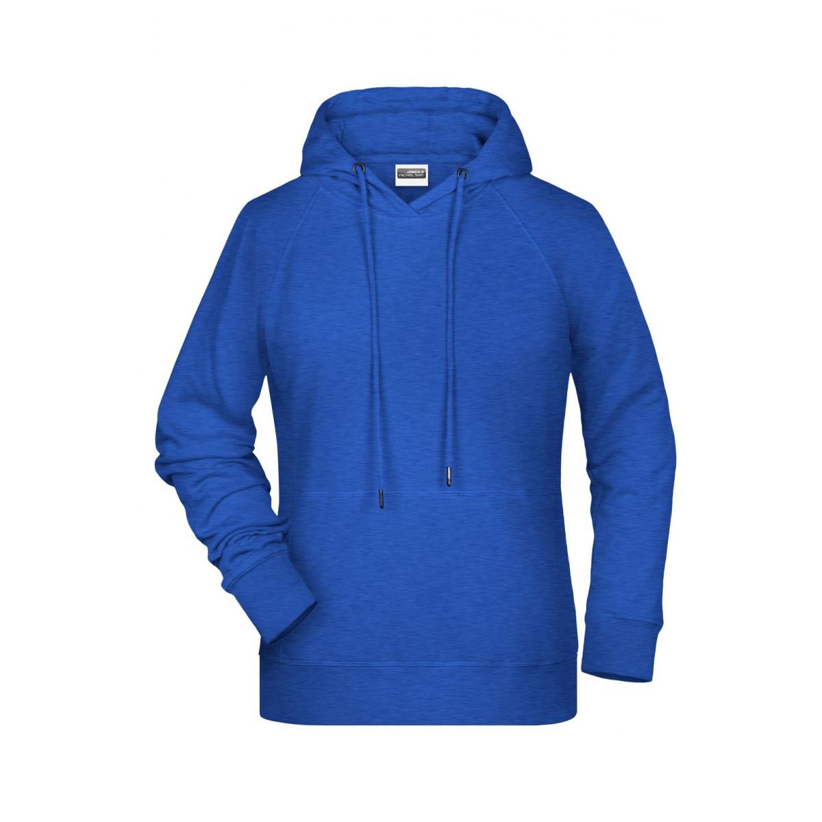 Толстовка женская 8023 Ladies Hoody - Ярко-синий меоанж