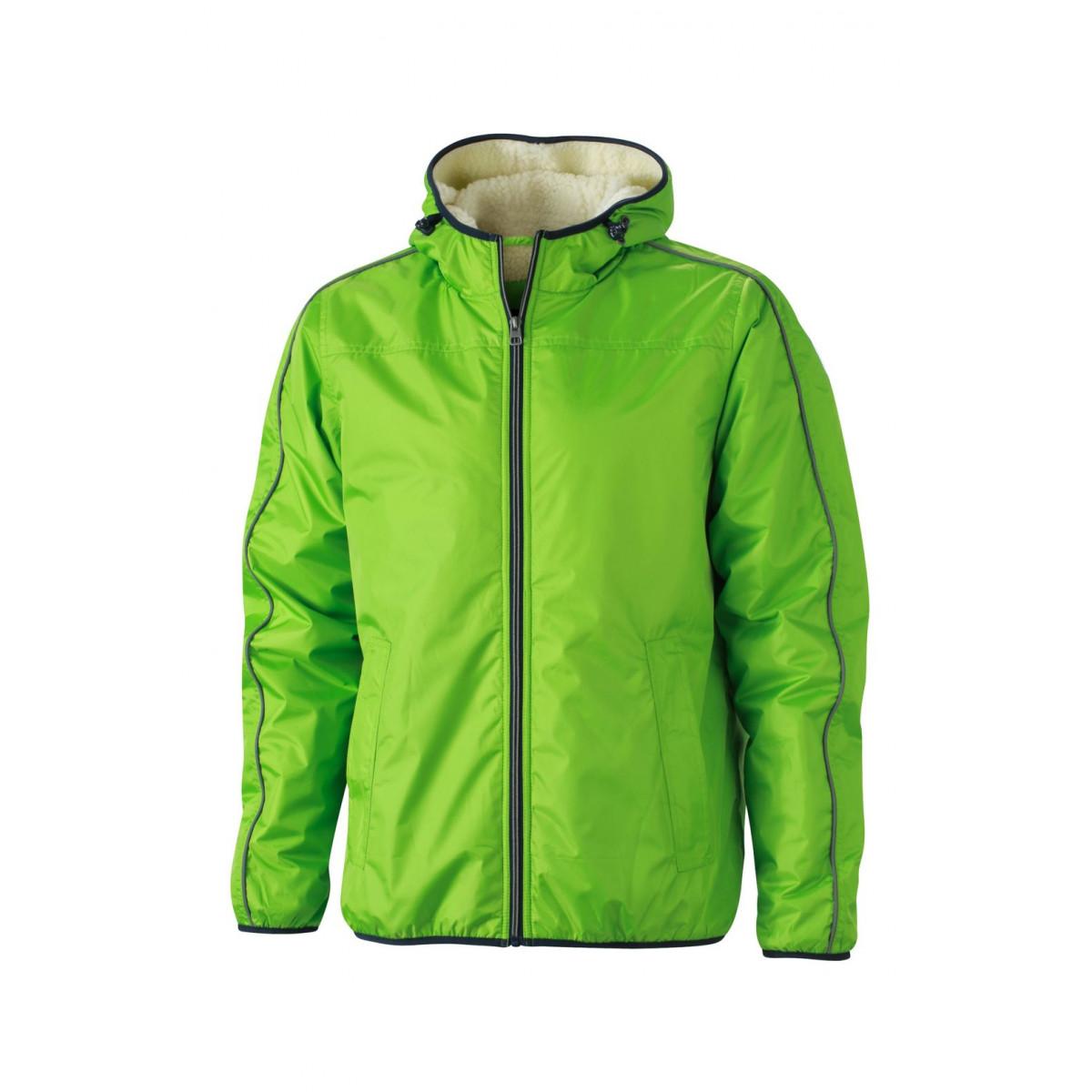 Куртка мужская JN1104 Mens Winter Sports Jacket - Насыщенный зеленый/Белый