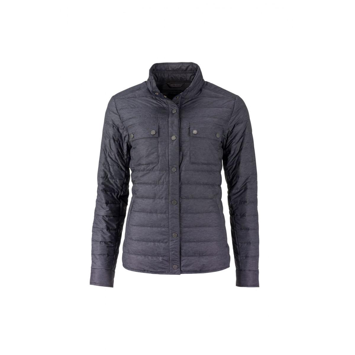 Куртка женская JN1105 Ladies Lightweight Down Jacket - Черный меланж
