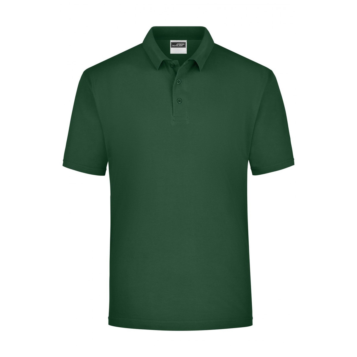 Рубашка поло мужская JN021 Polo Piqué Heavy - Темно-зеленый