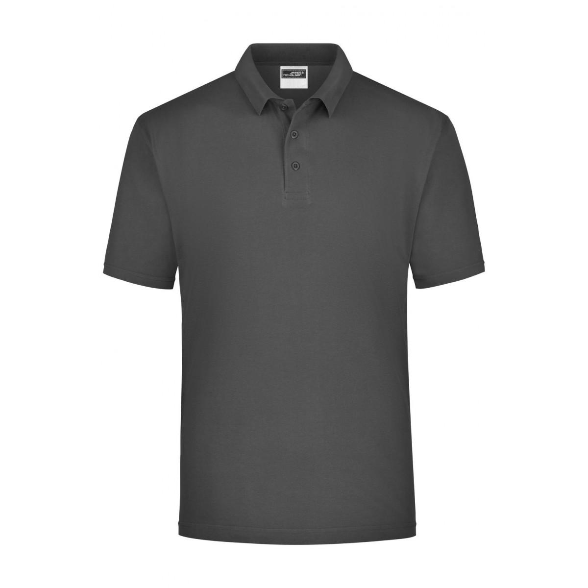 Рубашка поло мужская JN021 Polo Piqué Heavy - Угольный