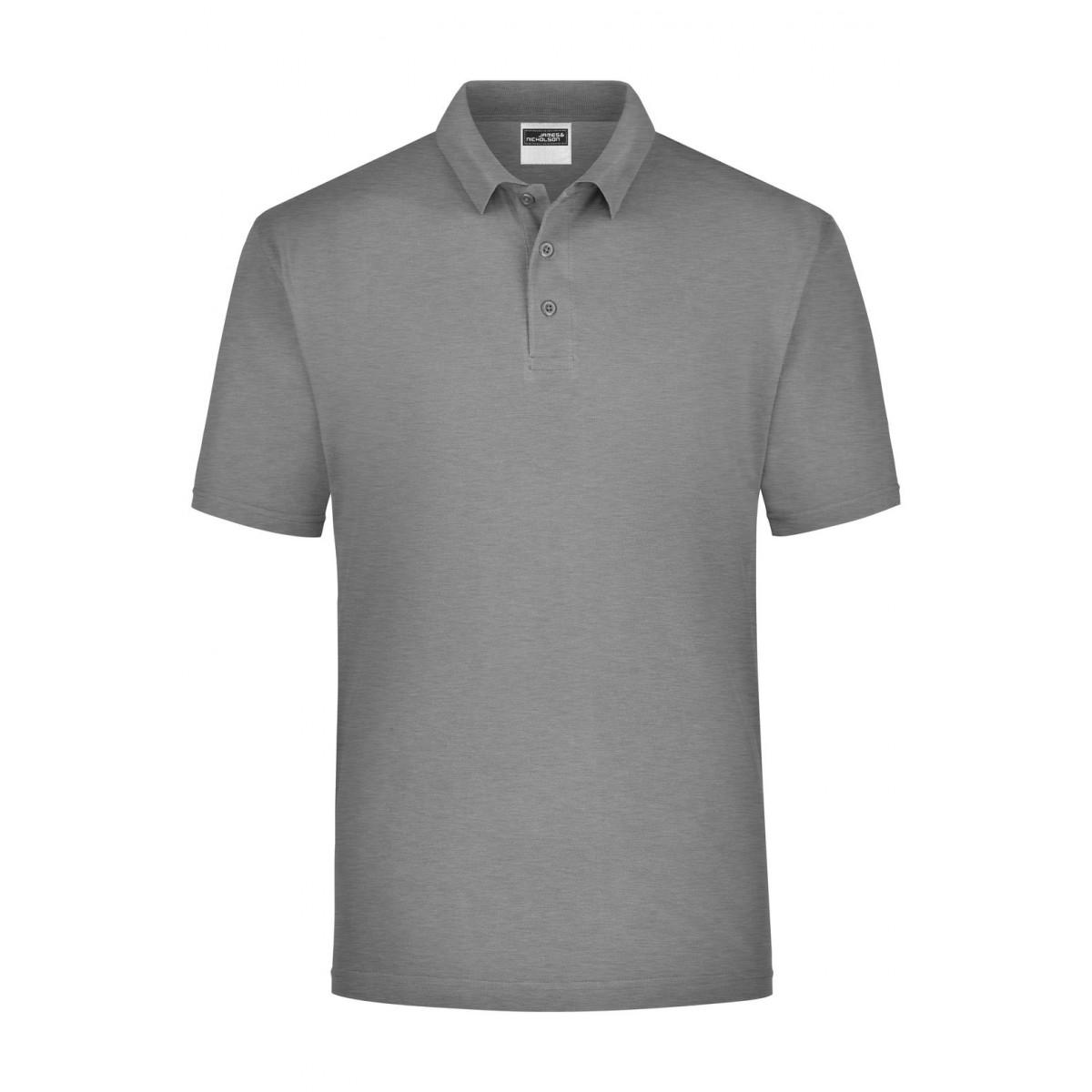Рубашка поло мужская JN021 Polo Piqué Heavy - Серый меланж
