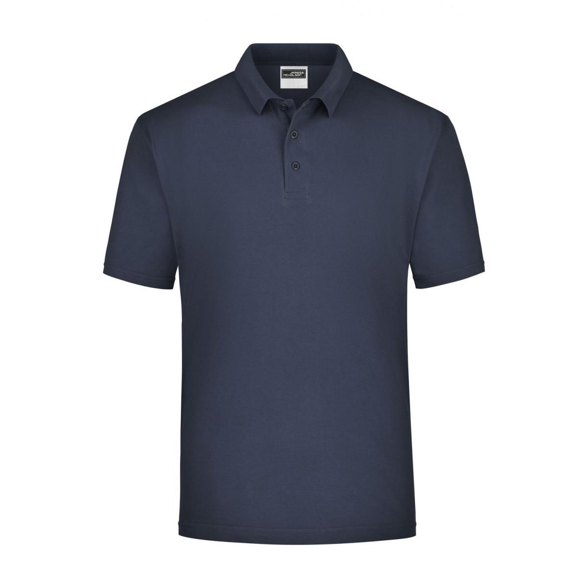 Рубашка поло мужская JN021 Polo Piqué Heavy - Темно-синий