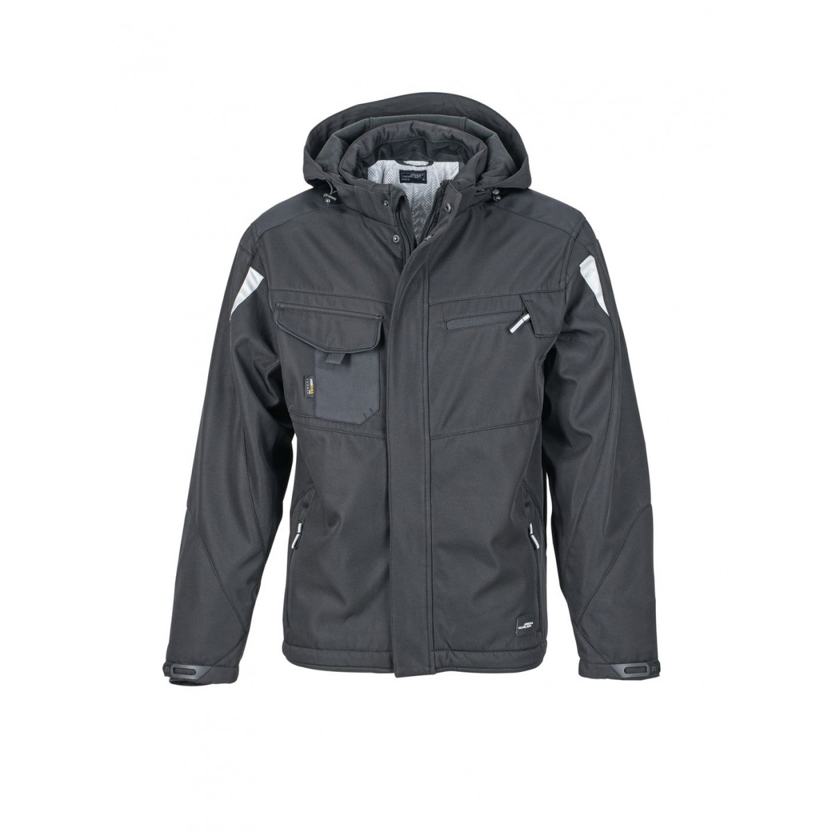 Куртка мужская JN824 Craftsmen Softshell Jacket - Черный/Черный