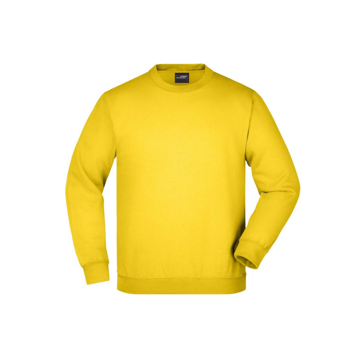 Толстовка детская JN040K Round Sweat Heavy Junior - Ярко-желтый