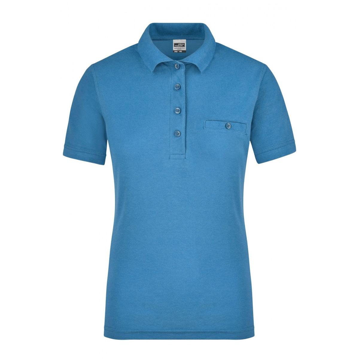 Рубашка поло женская JN867 Ladies Workwear Polo Pocket - Аква