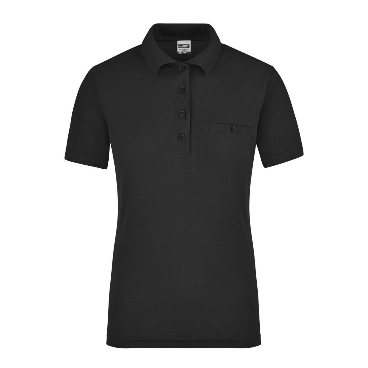 Рубашка поло женская JN867 Ladies Workwear Polo Pocket - Черный