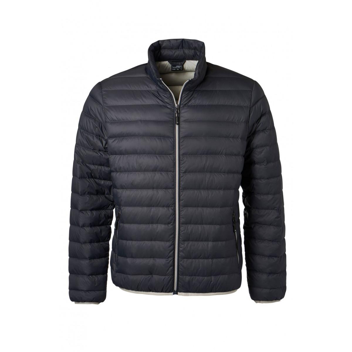 Куртка мужская JN1140 Mens Down Jacket - Темно-серый/Серебряный