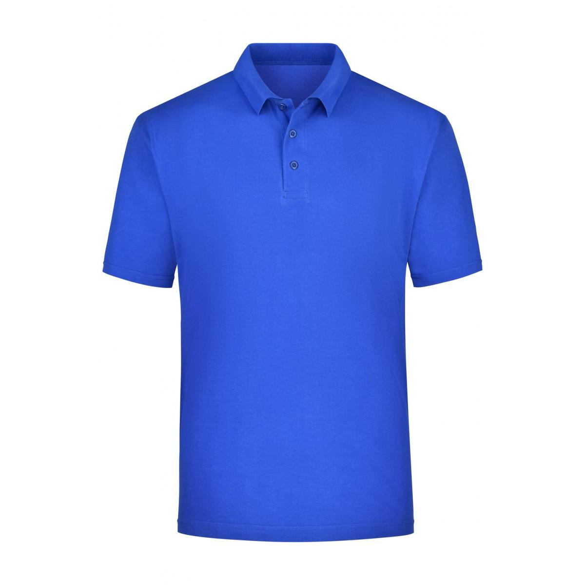 Рубашка поло мужская JN021 Polo Piqué Heavy - Ярко-синий