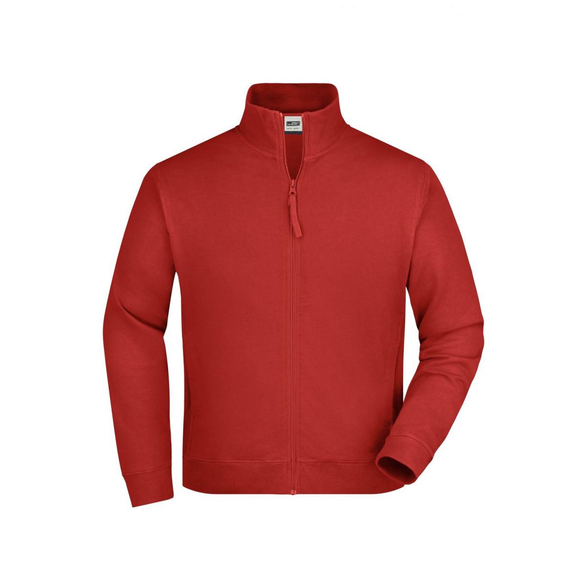 Толстовка мужская JN058 Sweat Jacket - Бордовый