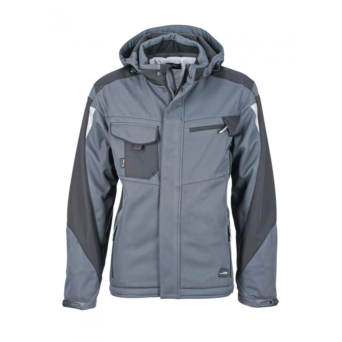 Куртка мужская JN824 Craftsmen Softshell Jacket - Карбон/Черный