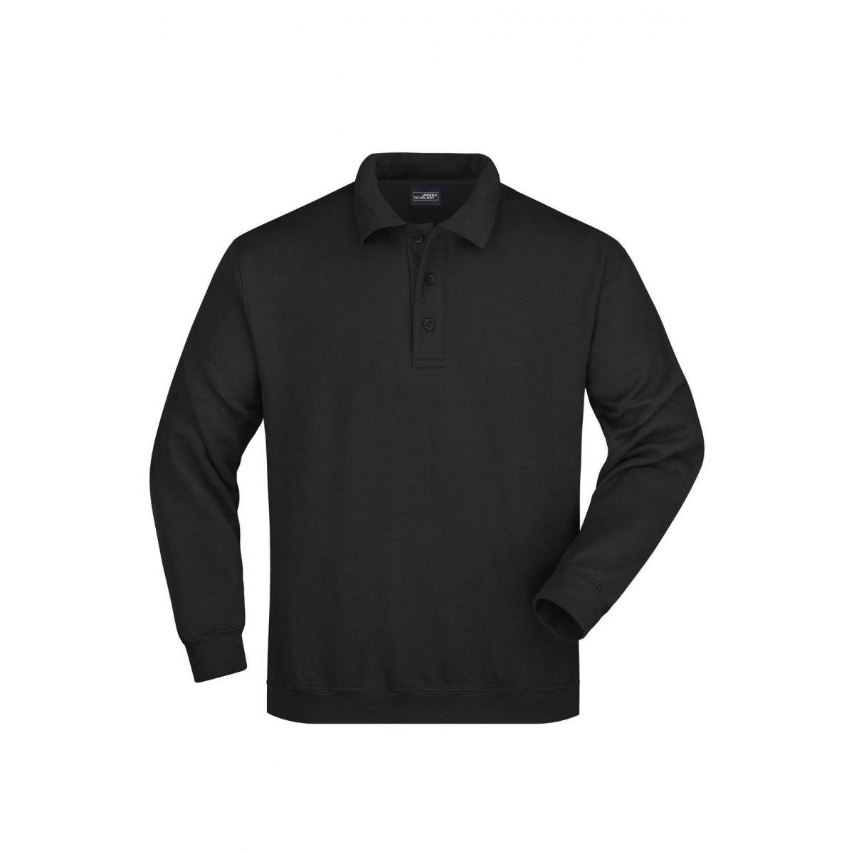Толстовка мужская JN041 Polo Sweat Heavy - Черный