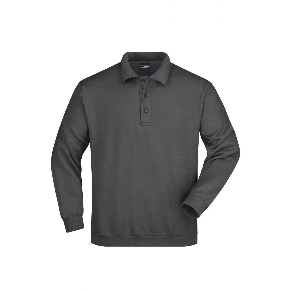 Толстовка мужская JN041 Polo Sweat Heavy - Карбон
