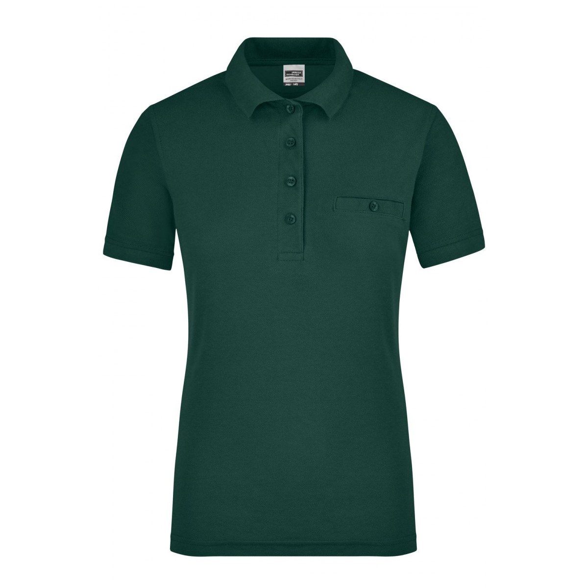 Рубашка поло женская JN867 Ladies Workwear Polo Pocket - Темно-зеленый
