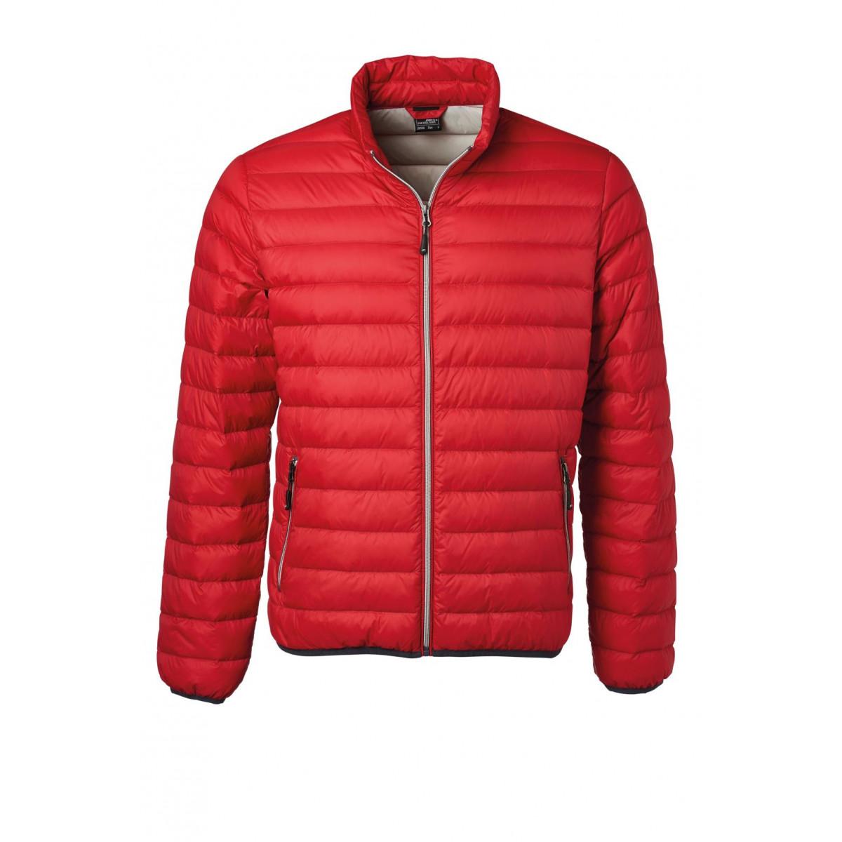 Куртка мужская JN1140 Mens Down Jacket - Красный/Серебряный