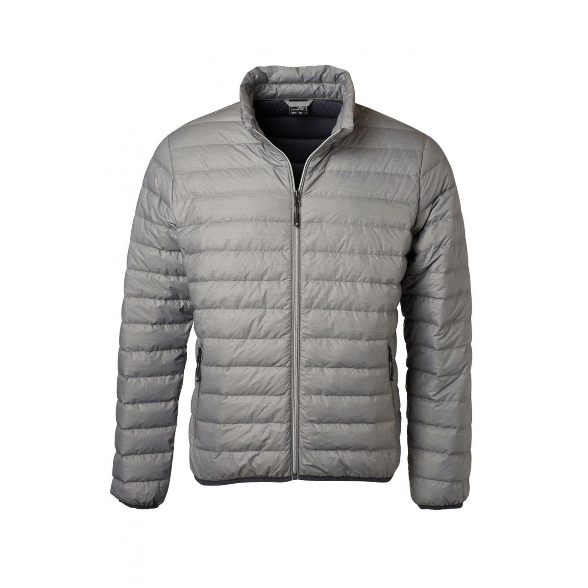 Куртка мужская JN1140 Mens Down Jacket - Светло-серый меланж/Темно-серый