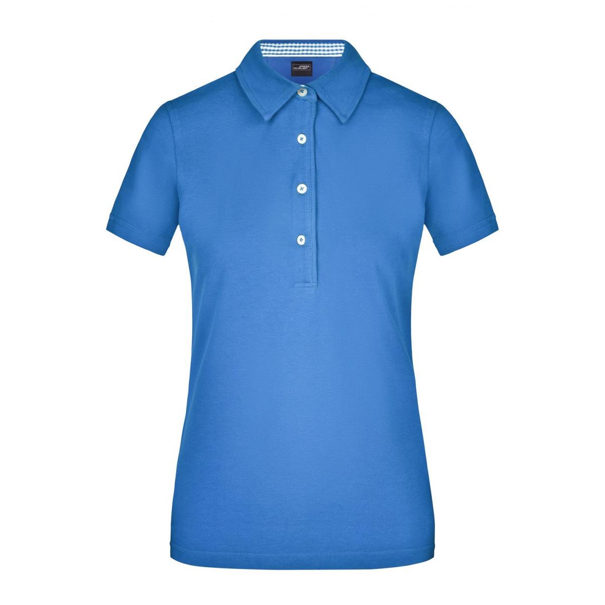 Рубашка поло женская JN969 Ladies Plain Polo - Цвет льда/Цвет льда-Белый