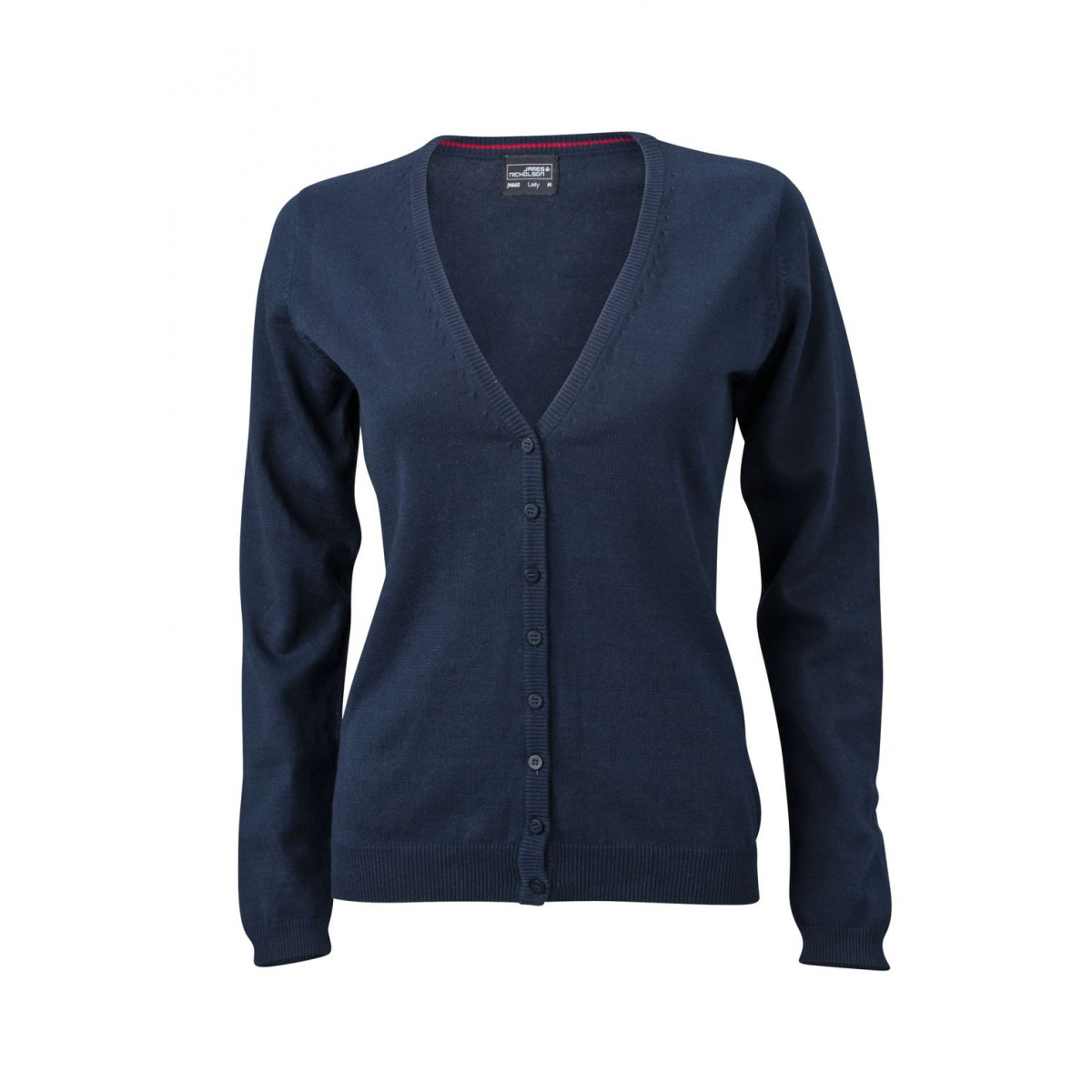 Кардиган женский JN660 Ladies V-Neck Cardigan - Темно-синий