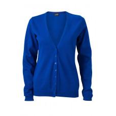 Кардиган женский JN660 Ladies' V-Neck Cardigan - Ярко-синий