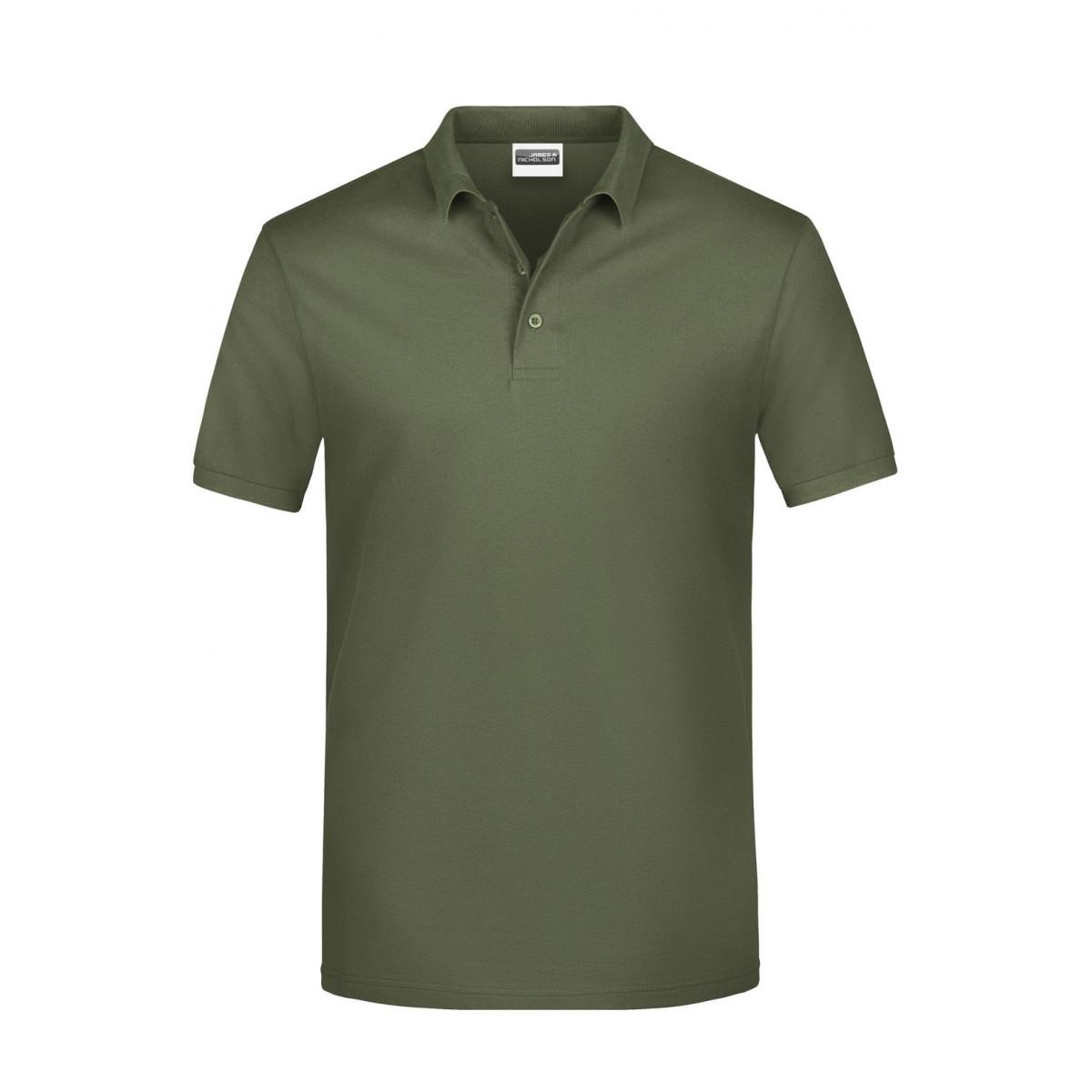 Рубашка поло мужская JN792 Basic Polo Man - Оливковый