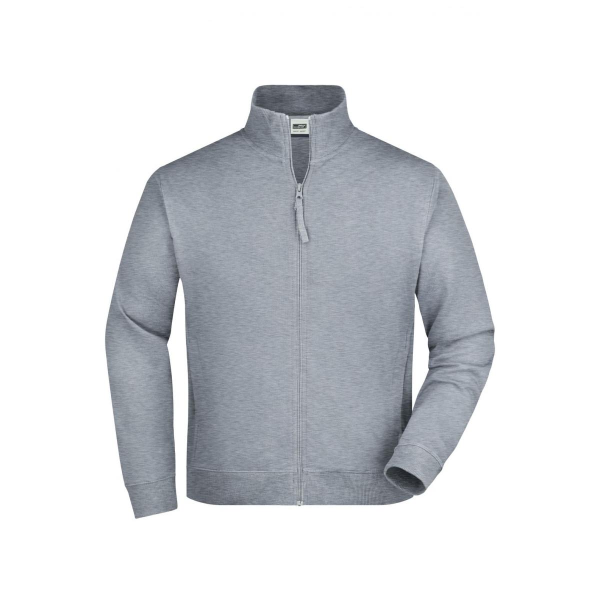 Толстовка мужская JN058 Sweat Jacket - Серый меланж