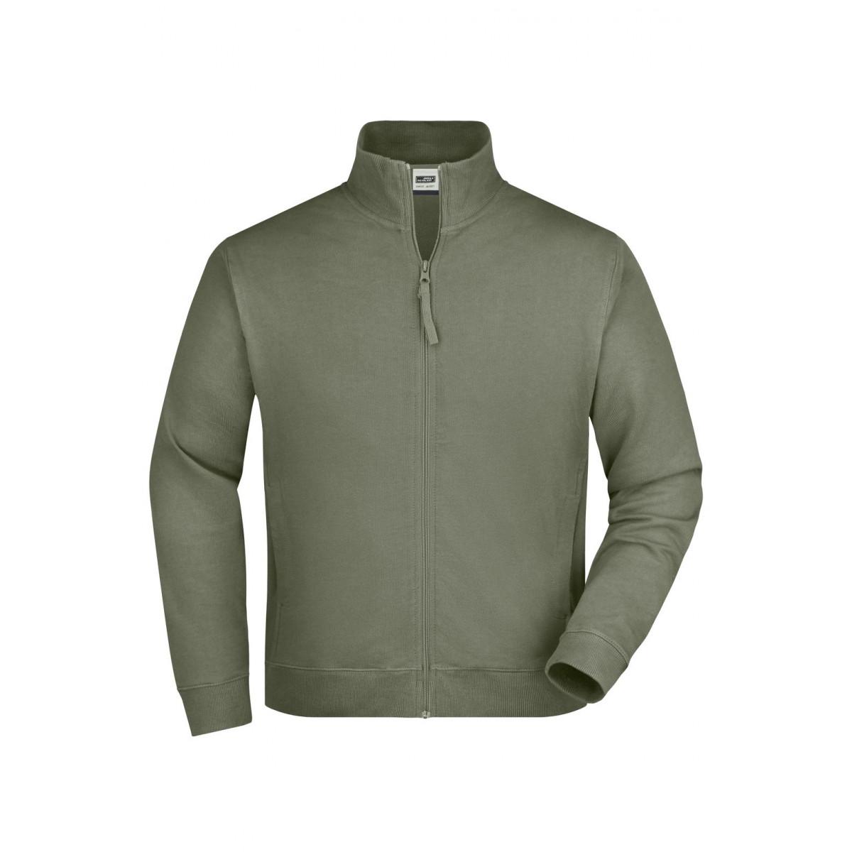 Толстовка мужская JN058 Sweat Jacket - Оливковый