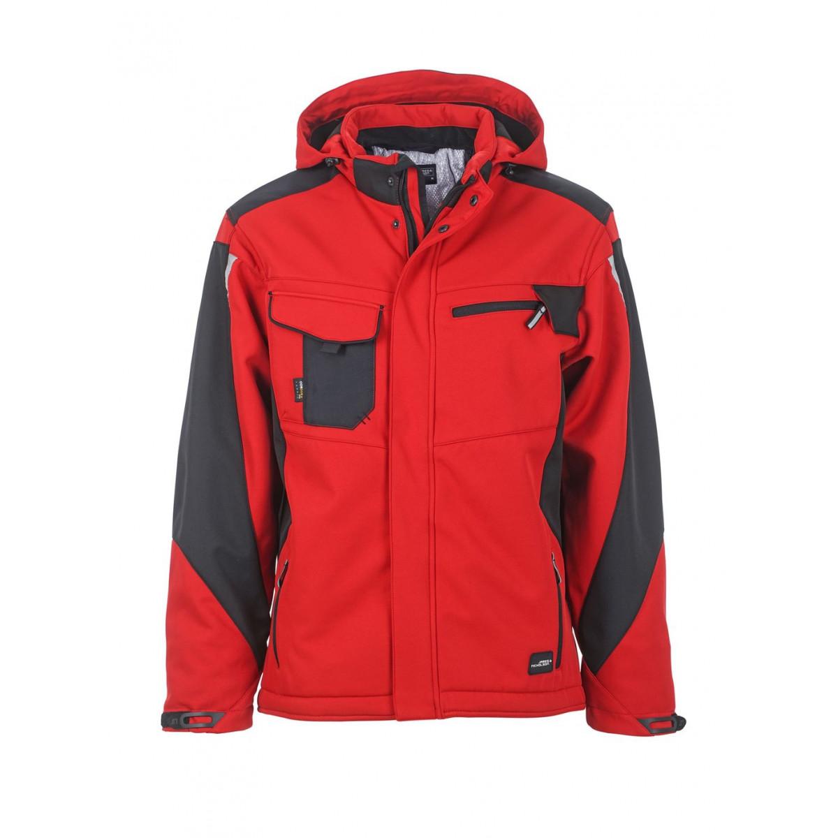 Куртка мужская JN824 Craftsmen Softshell Jacket - Красный/Черный