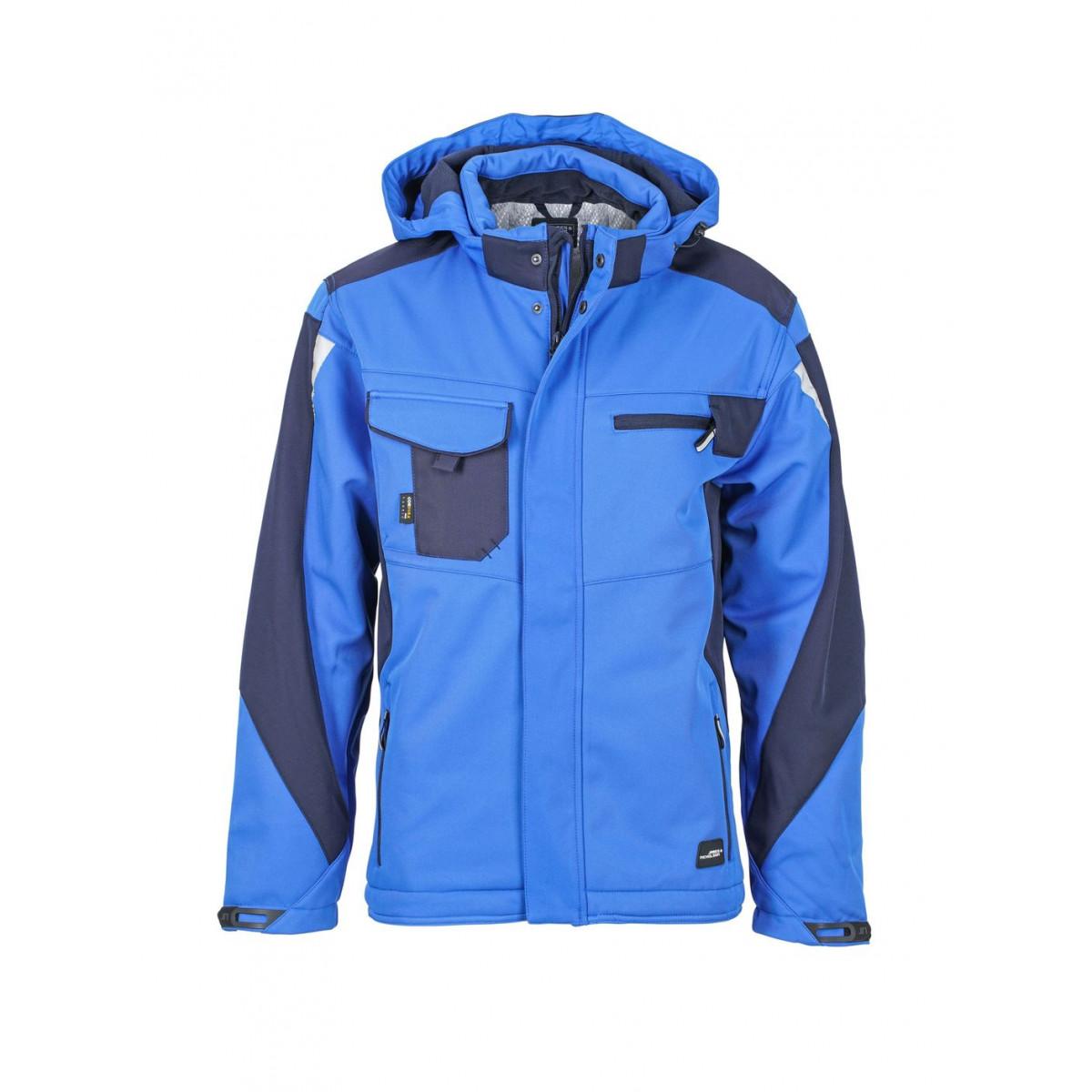 Куртка мужская JN824 Craftsmen Softshell Jacket - Ярко-синий/Темно-синий