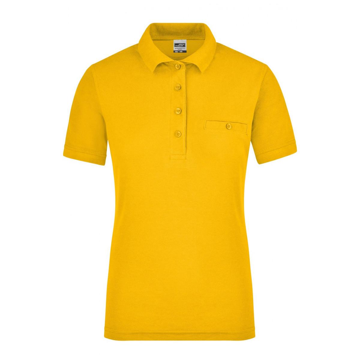 Рубашка поло женская JN867 Ladies Workwear Polo Pocket - Золоистый желтый