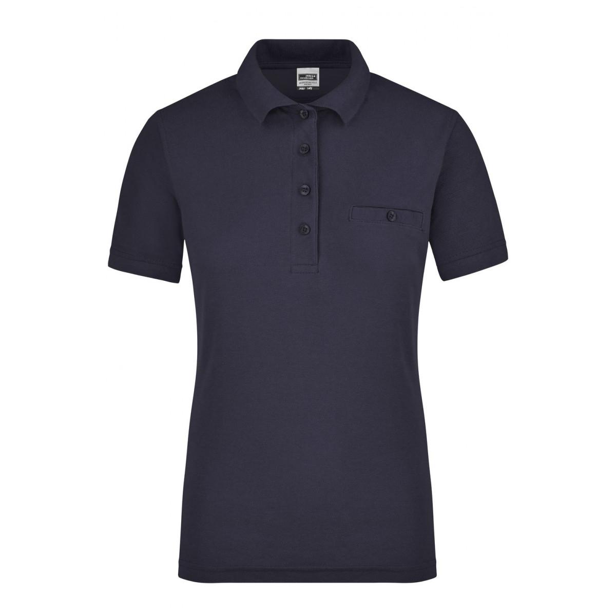 Рубашка поло женская JN867 Ladies Workwear Polo Pocket - Темно-синий