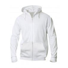 Толстовка мужская 021034 Basic Hoody Full zip - Белый