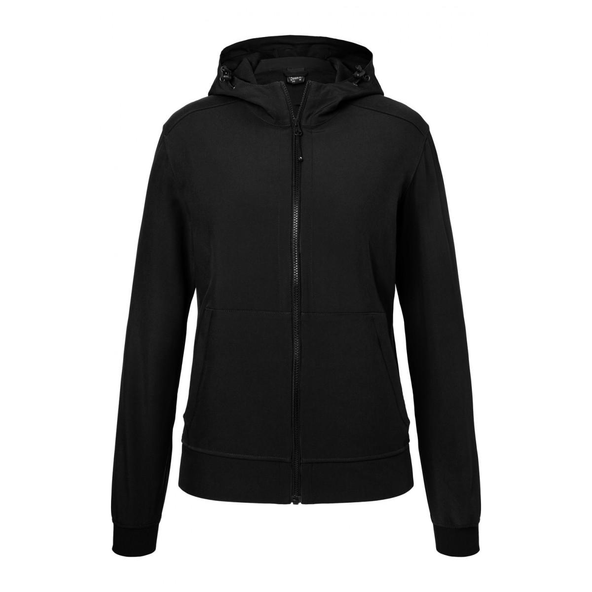 Куртка женская JN1145 Ladies Hooded Softshell Jacket - Черный/Черный