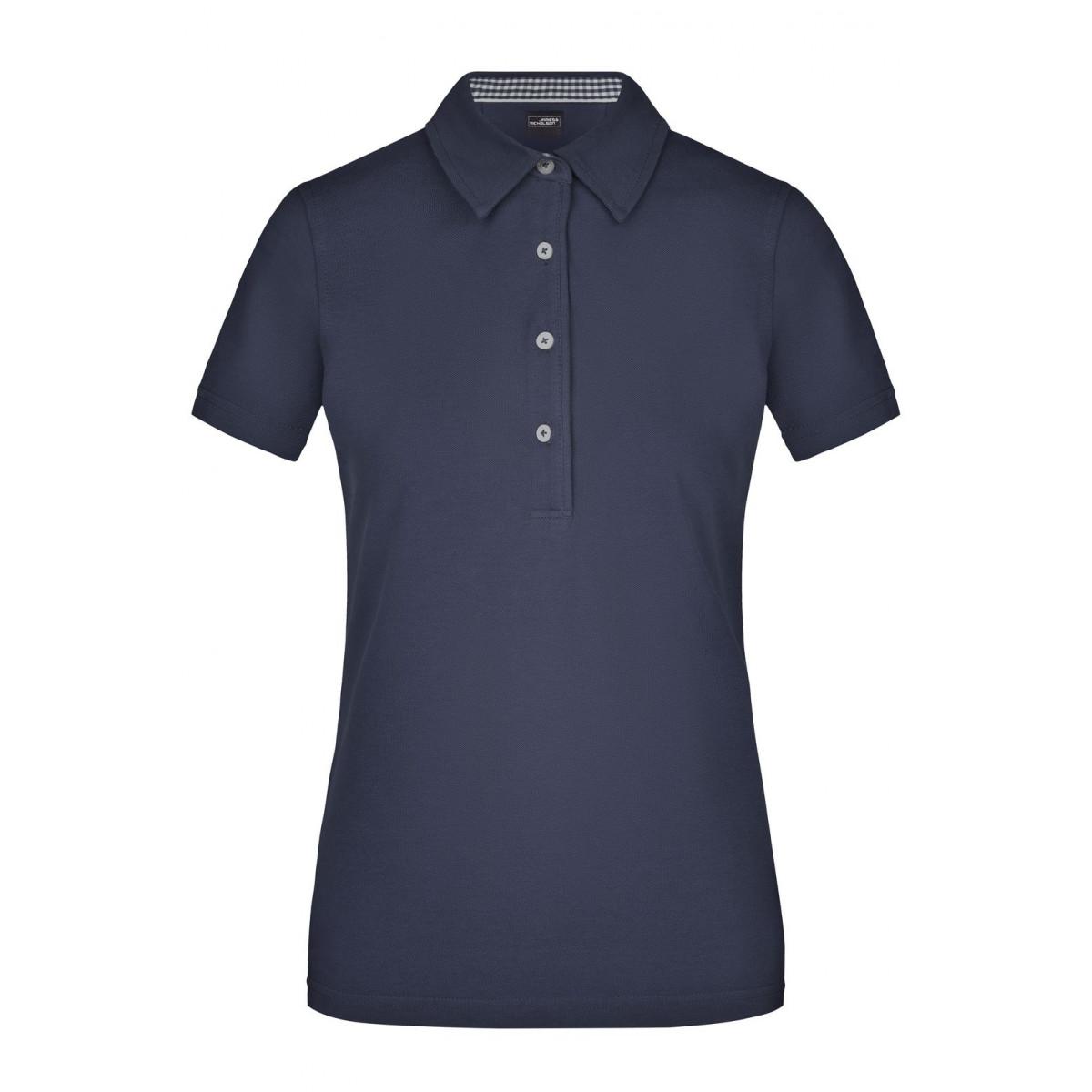 Рубашка поло женская JN969 Ladies Plain Polo - Темно-синий/Темно-синий-Белый