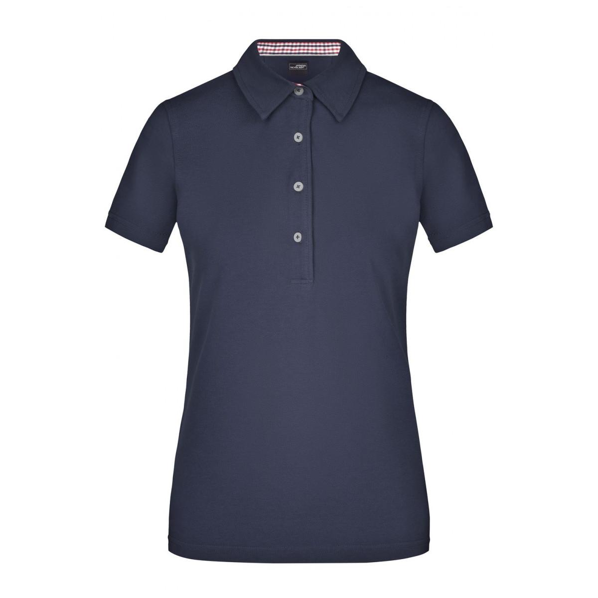 Рубашка поло женская JN969 Ladies Plain Polo - Темно-синий/Красный-Темно-синий-Белый
