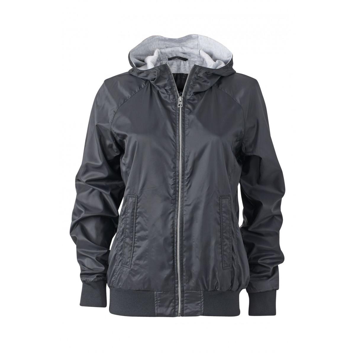 Куртка женская JN1107 Ladies Sports Jacket - Черный/Черный