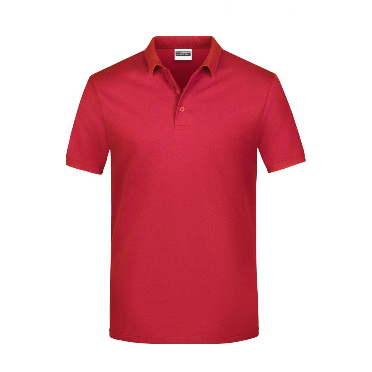 Рубашка поло мужская JN792 Basic Polo Man - Красный