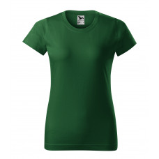 Футболка женская 134 Basic - Бутылочно-зеленый