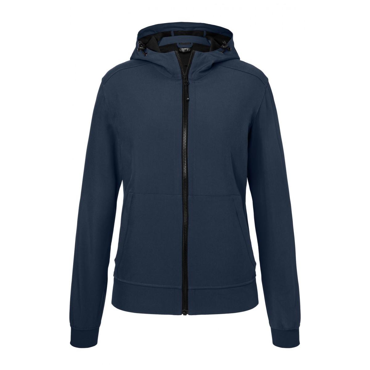 Куртка женская JN1145 Ladies Hooded Softshell Jacket - Темно-синий/Темно-синий