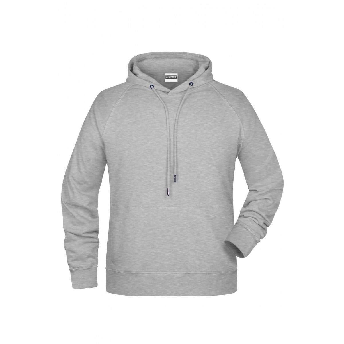 Толстовка мужская 8024 Mens Hoody - Серый меланж